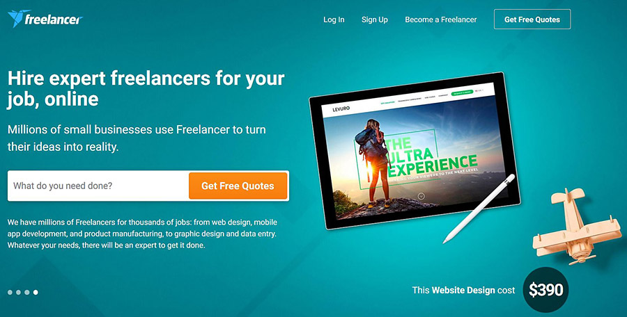 freelancer.com outsourcing web